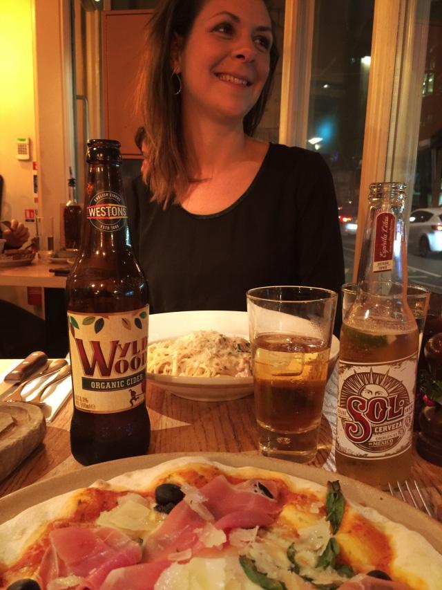 Første middag i London