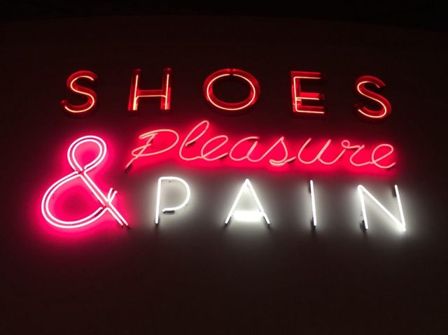 Shoes Pleasure and pain